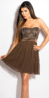 Robe Glamour LALOU Couleur Marron