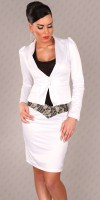 Blazer style fashion SAFIA couleur Blanc